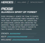 Official stats - Pidge