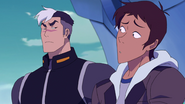 70. Shiro gives Lance the Team Dad glare