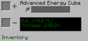 Advanced Energy Cube GUI