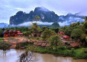 Dawn in Vang Vieng
