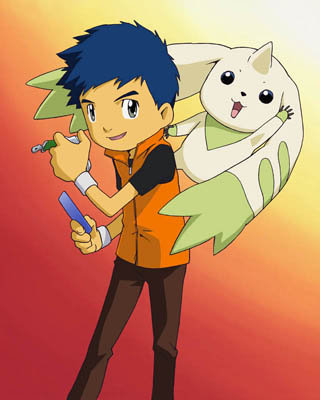 Henry Wong and Terriermon t
