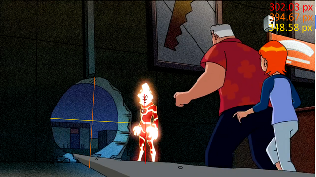 File:Episode 2 - Heatblast melts a hole in a wall.png