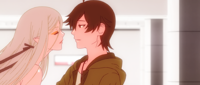 Koyomi and Shinobu