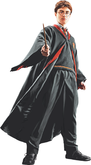 Harry in Robe with Wand Front View (Painting) - Harry Potter and the Half-Blood Prince