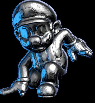 Metal mario trophy pose by maxigamer-darib74