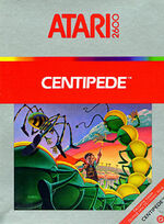 Atari 2600 Centipede box art