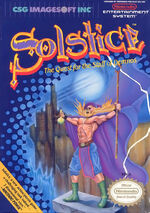 Solstice The Quest for the Staff of Demnos NES cover