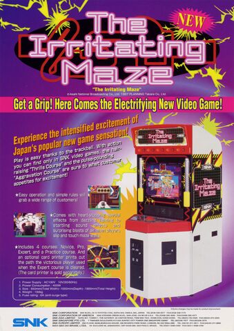 File:Irritating Maze arcade flyer.jpg