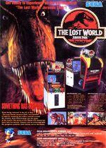 Lost World Jurassic Park arcade flyer