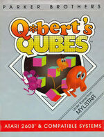 Atari 2600 Qbert Qubes box art