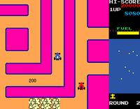 Rally X arcade screenshot