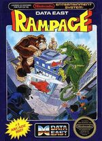 Rampage NES cover