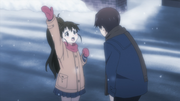 Takanashi asking where is Taneshima's parents