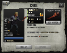 Carol - Max Stats