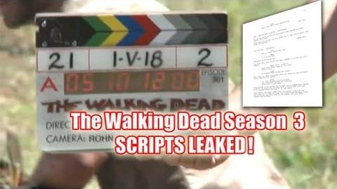 The Walking Dead Season 3 Scripts Leaked! - Major Spoilers 301, 302, 303