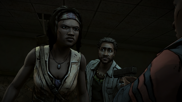 File:ITD Greg Threatening Michonne.png