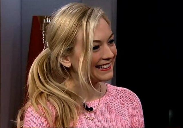 File:Emily looking cute in a pink sweater in an interview cute smile.jpg