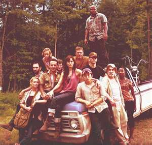 File:Season 1 cast Andrea, lori, glenn, Dale, sophia, T-Dog, Rick, Daryl, Shane, carl.jpg