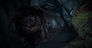 Dead body of David