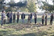 Glenn, Hershel, Shane, Beth, Jimmy, Patricia, Maggie, T-Dog, Carl, Lori, Rick, Carol, Andrea, Daryl