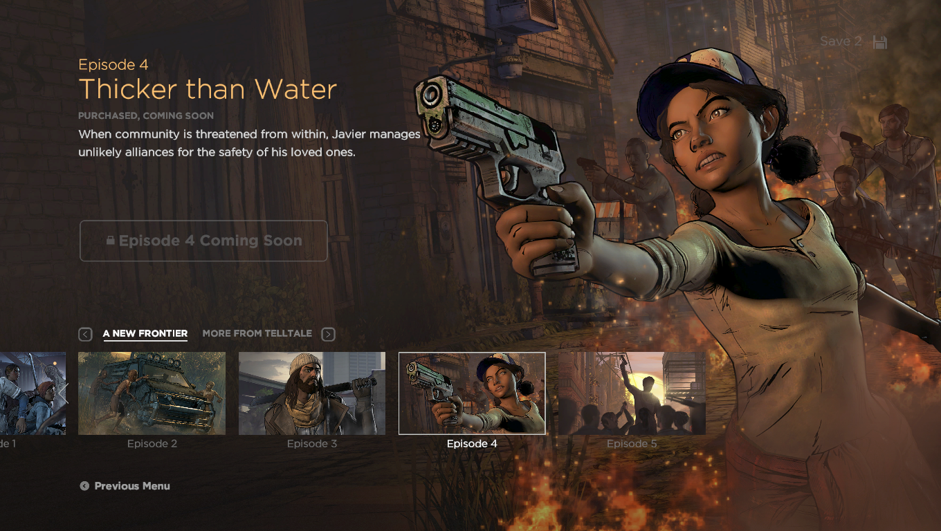 Resultado de imagem para The Walking Dead: A New Frontier – Thicker Than Water