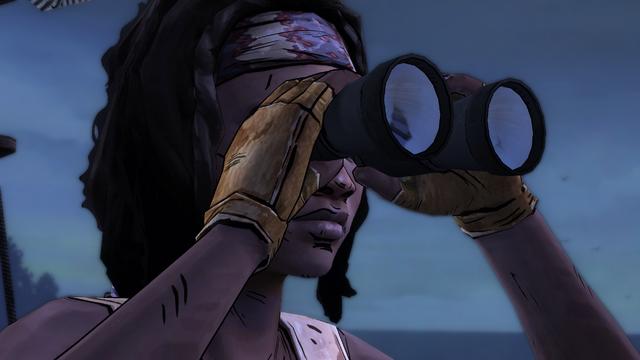 File:ITD Michonne Using Binoculars.png