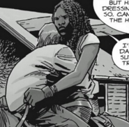 Michonne Carrying Aaron