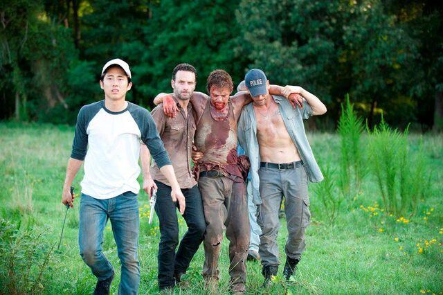 File:Rick, Daryl, Glenn and Shane.jpg