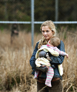 Beth with Judith in finale flashback so adorable