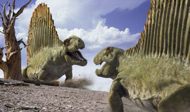 Dimetrodon Roaring