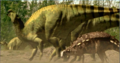 Europeon iguanadon with polocanthus.png