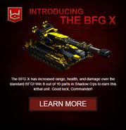 BFG X war commander email