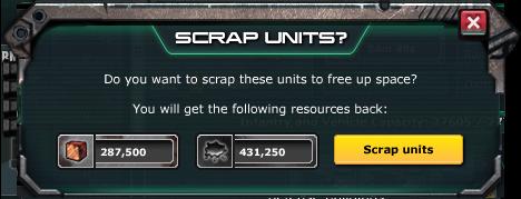 Scrap unit