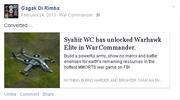 Facebook post elite warhawk