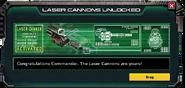 LaserCannons-UnlockMessage