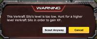 Verkraft silo's level is too low