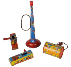Vintage New Year Noise Makers