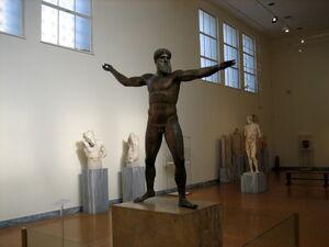 Bronze statue of Zeus or Poseidon