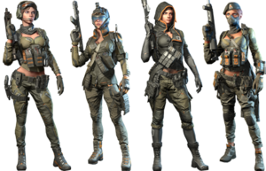 Squad Black Widow Skin
