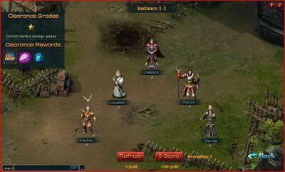 Warrior fight screen