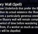 Illusory Wall