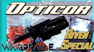 OPTICOR RIVEN SPECIAL - 2 mods 1 gun 4 forma - Warframe