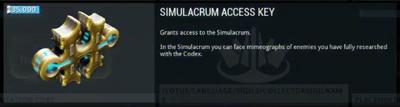 Simulacrum Access Key Placeholder