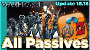 ALL PASSIVE ABILITIES IN WARFRAME - Tips & Tricks Update 18