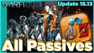 ALL PASSIVE ABILITIES IN WARFRAME - Tips & Tricks Update 18.13