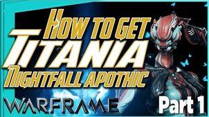 THE SILVER GROVE - Titania Systems bp & Nightfall Apothic Warframe Quest part 1