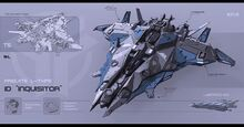 Futuristic sci fi Spaceship fighter jet comber frigate jericho inqusitor concept art design star wars starcaft 2 ii movie