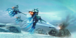 Eldar Shadow Spectres Aspect Warriors Attacking
