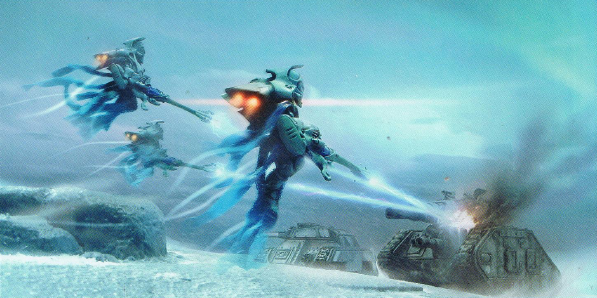 File:Eldar Shadow Spectres Aspect Warriors Attacking.png