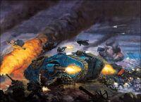 Land Raider Combat